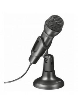 Microfono para Ordenador Trust ZIVA / Pedestal para escritorio / Botón silenciador