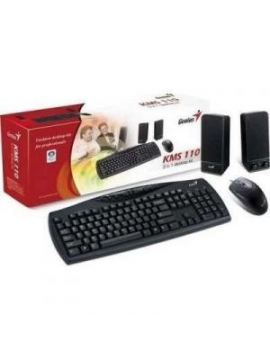 Teclado Genius 3in1 (Teclado+Raton+Altavoces) KMS110PS2