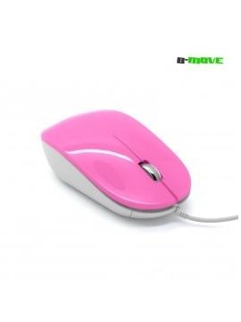 Ratón óptico Prism Mouse Rosa 1000 dpi