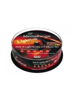 DVD-R MediaRange LightScribe 16x tarrina 25U.