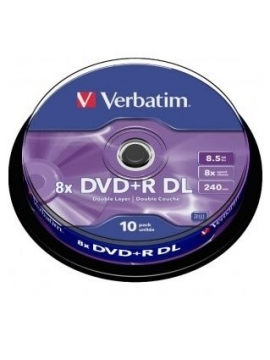 DVD+R DL Verbatim Doble Capa 10U.