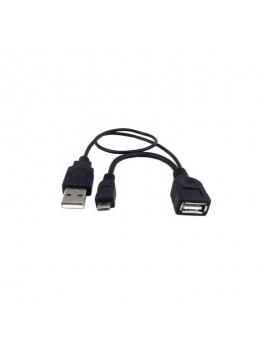 Cable Otg Micro Usb con entrada de Corriente