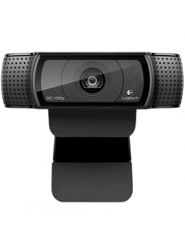 Webcam Logitech HD PRO C920 - Lente Cristal FULL HD - Grabaciones 1080P