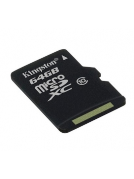 Micro SDHC Kingston 64Gb + Adaptador SD Clase 10