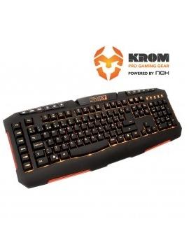 Teclado Gaming NOX KROM Konker Negro LED naranja