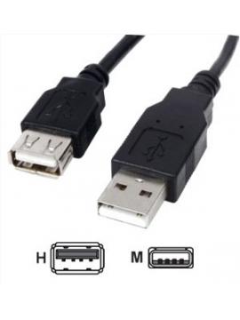 Cable USB Prolongador 1,8m. Blanco
