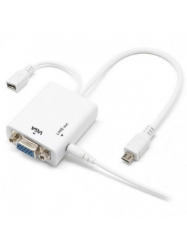 Adaptador Micro USB NHL 11 Pines a VGA + Audio