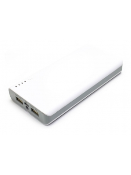 Powerbank 12,000 Mah doble USB Plata