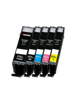 Tinta Compatible Canon PGI-550BK Negro