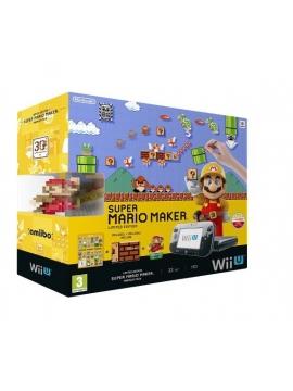 Nintendo Wii U Premium Pack 32Gb+Mario Maker + Amiibo Mario