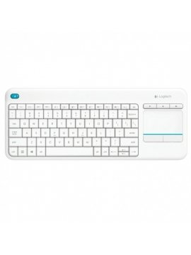 Teclado Logitech Wireless Touch K400 Plus Blanco