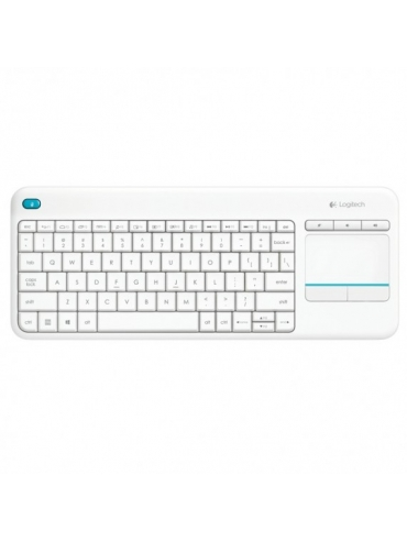 Teclado Logitech Wireless Touch K400 Plus Blanco