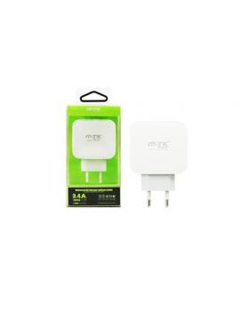 Cargador USB 5V 3,4A 3 Puertos m.t.k