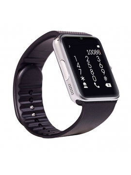 Smartwatch GT08 SIM+SD+Bluetooth Silver Black