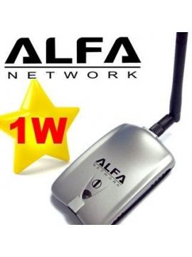 Wifi USB Alfa AWUS036H 1000mW 1W 802.11b/g Antena 5Db V5 Realteck 8187L