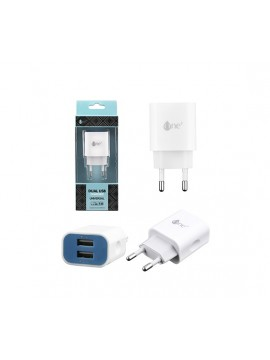Cargador USB Doble 5V 2,1A One Plus