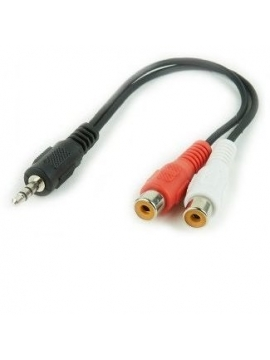 Cable Audio Stereo Jack 3.5-M a 2xRCA-H 0,30M