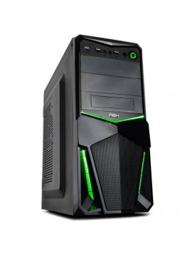 Caja ATX NOX PAX Negra/Verde USB 3.0 (Remanofacturada)