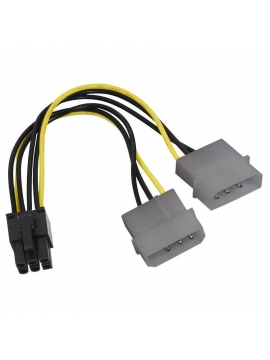 Cable Adaptador 2 Molex a PCI-E 6 PINS para VGA