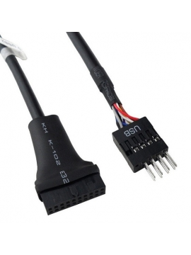 Adaptador USB 3.0 de 20 pines a Conector macho USB 2.0 9 pines Macho