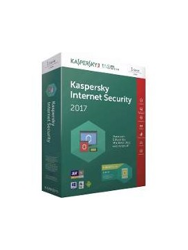 Antivirus Kaspersky Internet Security 2017 2PC/1año
