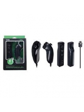 Pack Remote + Nunchuk MTK Negro WII Motion Plus