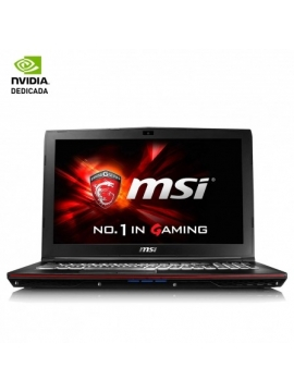 Portatil MSI GP62 7RE (LEOPARD PRO)-281XES - I7-7700HQ 2.8GHZ - 8GB - 1TB+256GB SSD - GEFORCE GTX105