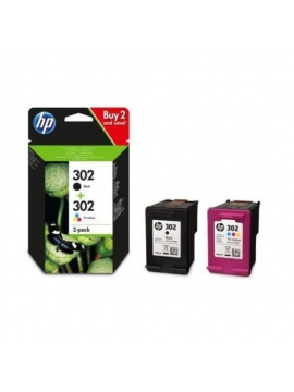 Tinta Original HP Pack 302 Color y Negro