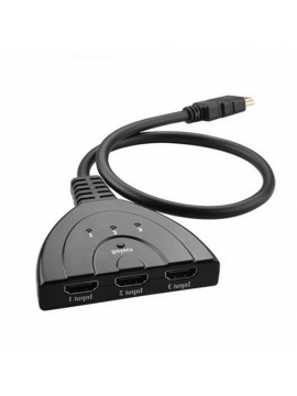 Switch 3 puertos HDMI 4k Full HD 1080p 3D 3 Entradas 1 Salida