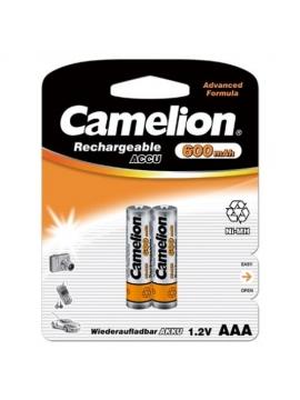 Pila Recargable Camelion 600mah AAA 1,2V 2U.