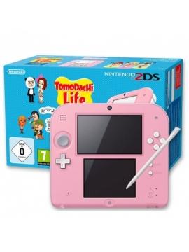 Nintendo 2DS Blanca Rosa + Tomodochi Life