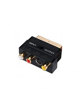 Adaptador Euroconector SCART/RCA Entrada y Salida