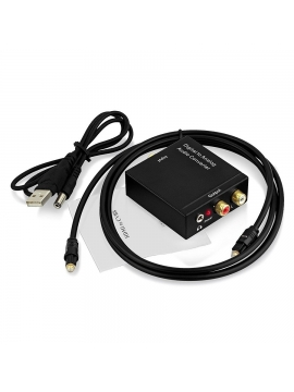 Adaptador Conversor de audio digital en analógico Spdif/Coaxial a RCA