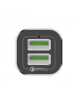 Cargador Coche USB Doble 5V 3A Carga Rapida HV-QC2023