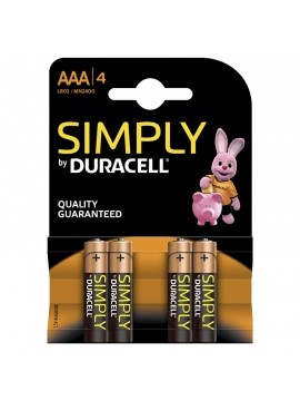 Pila Alcalina Pack 4 Duracell LR03 AAA MN2500