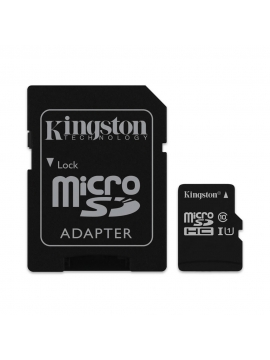 Micro SDHC Kingston 16Gb 80mb/s