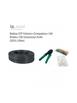 Cable de RED RJ45 Rollo 100m CAT6 + Kit Herramienta