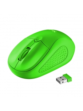 Raton Optico Inalambrico Trust Primo Neon Green