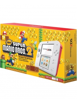 Nintendo 2DS Blanca Roja Pack New Super Mario Bros 2 (Usada)