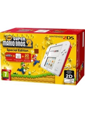 Nintendo 2DS Azul + New Super Mario Bros 2 (Remanufacturada)