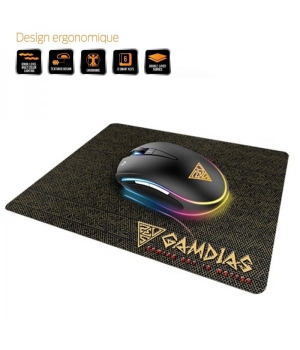 Ratom Gaming Gamdias Zeus E1 + Alfombrilla Nyx E1