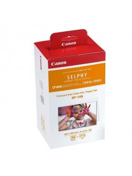 Papel fotografico y Cartucho de Tinta Original para Selphy CP Canon RP-108