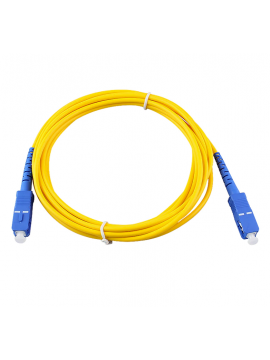 Cable fibra optica SC-APC monomodo Amarillo 3 metros