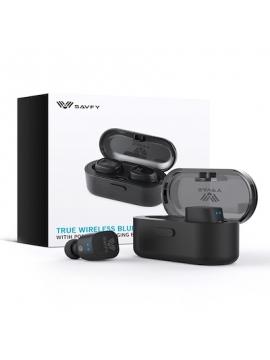 Auriculares SAVFY Bluetooth 4.1 BTD0177BK Auriculares con estuche de carga