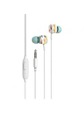 Auriculares Havit Estampados Con Manos Libres HV-E58P Verde
