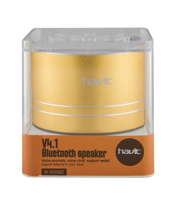 Altavoz Bluetooth V4.1 TF Manoslibres Vaso HV-SK556BT Dorado