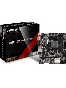 Placa Base AM4 Asrock AB350M-HDV