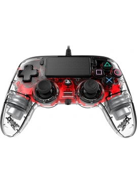 Mando Ps4 Compatible Nacon Wired Cristal Rojo