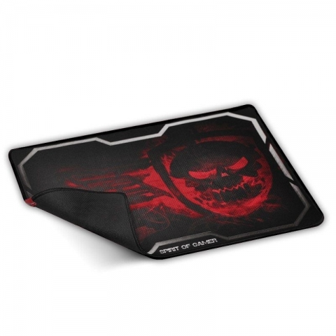 Alfombrilla Spirit of Gamer Smokey Skull Red Tama?o Xl