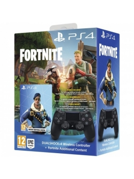 Mando SONY Ps4 Original V2 Negro + Fortnite
